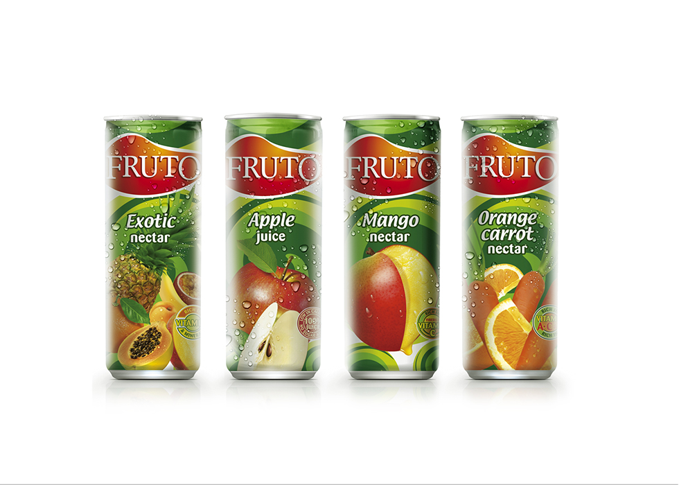 Fruto Juice Cans